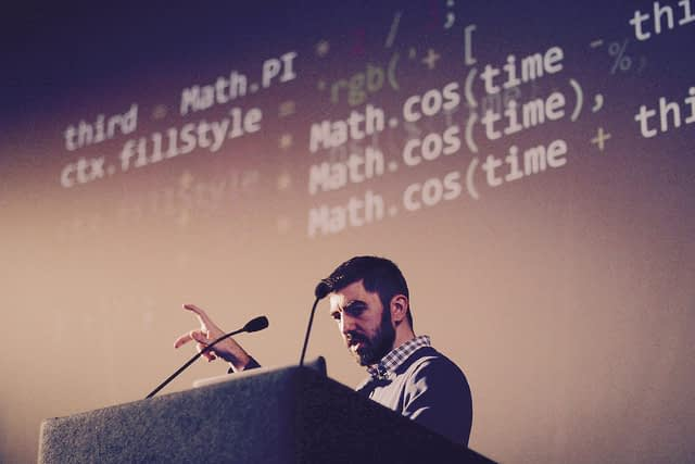 ART×JS was the closing talk at FFconf 2016. The goal was to bring new developer artists to the web by making mathematics and standards less scary and embracing imperfections.